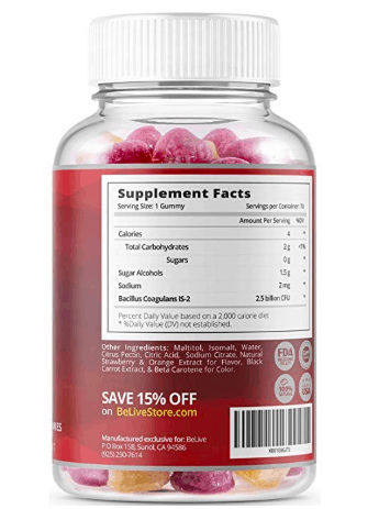 belive-probiotic-gummies-ingredients