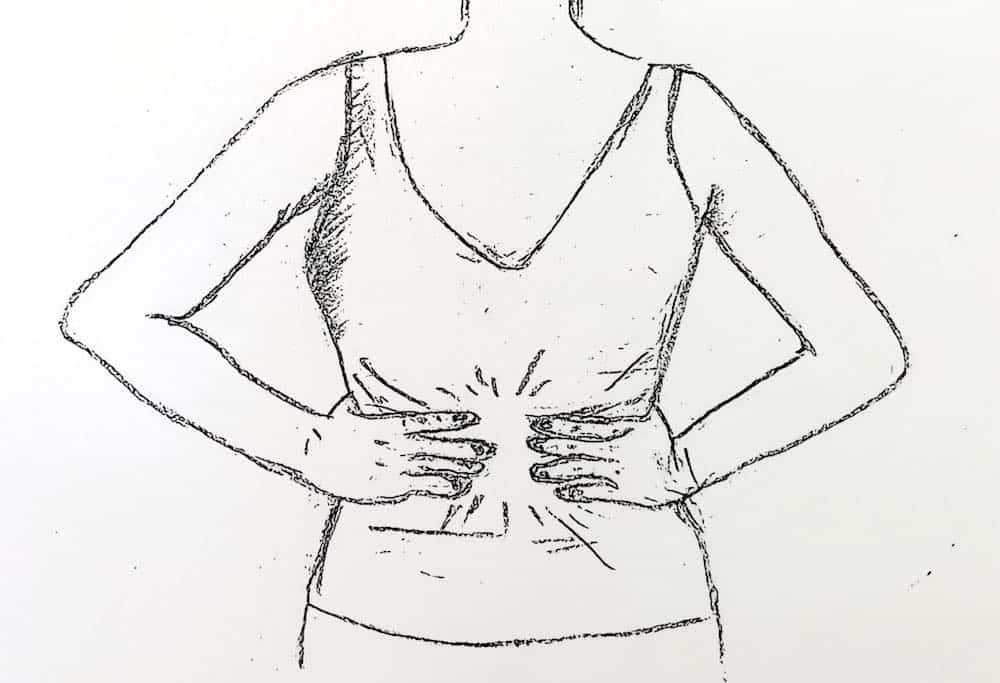 girl-holding-stomach-drawing