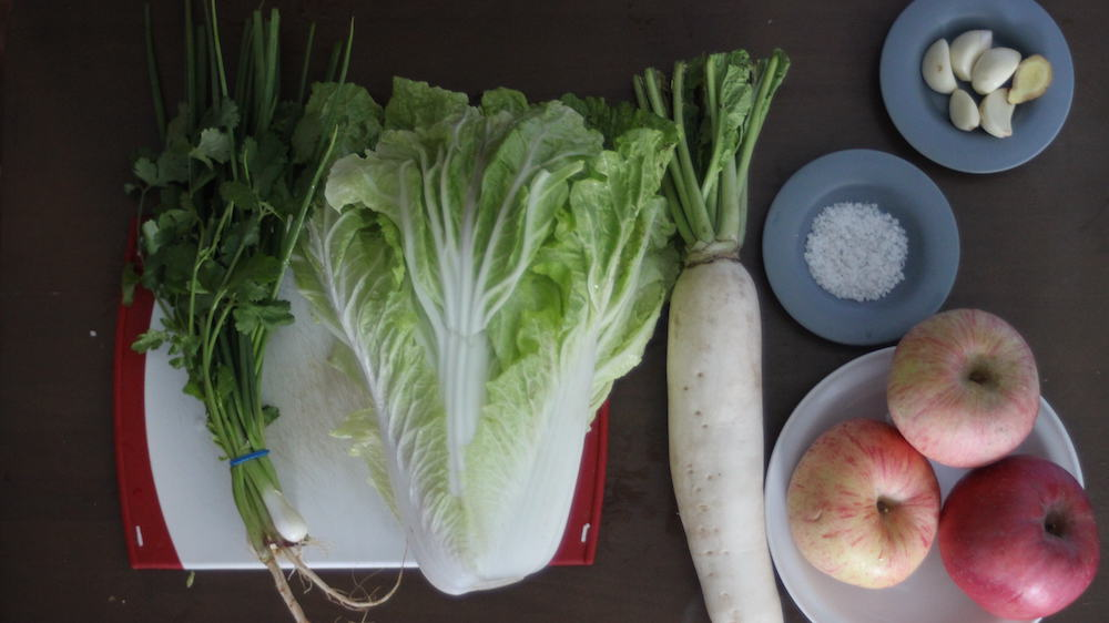 Apple-Kimchi-Ingredients