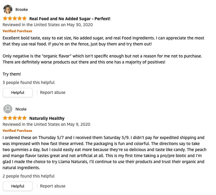Llama-Naturals-5-star-reviews